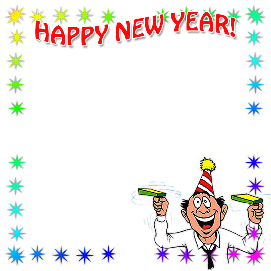 Happy new year borders clipart clip black and white download Free Happy New Year Borders - New Year Border Clip Art clip black and white download