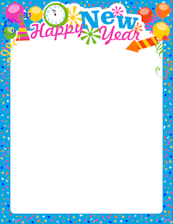 S eve border stationary. Free new year clipart borders