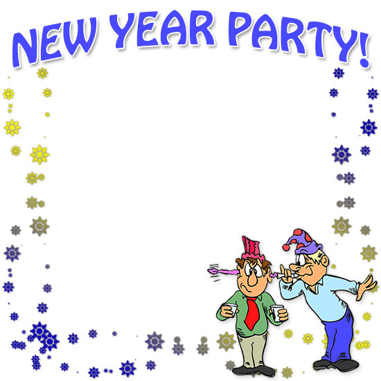 Free new year clipart borders vector black and white stock Free Happy New Year Borders - New Year Border Clip Art vector black and white stock