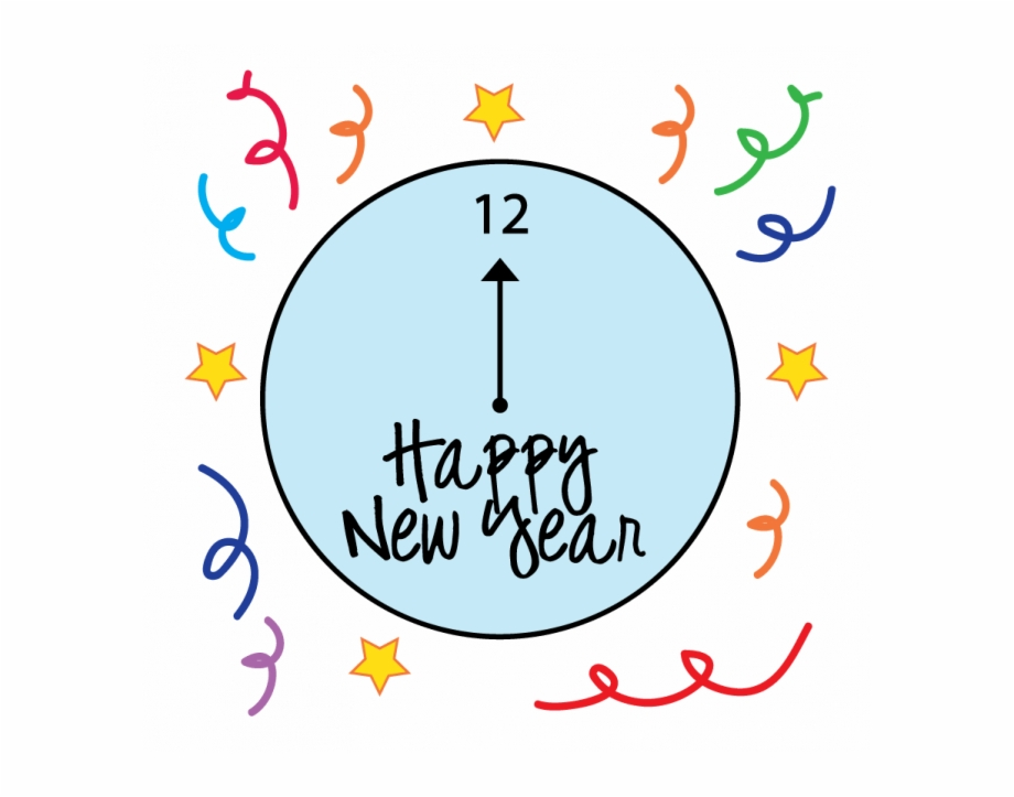 Happy year coloring pages. Free new years eve clipart 2018