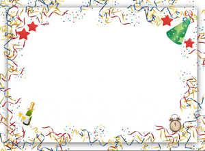 Border images at clker. Free new years eve clipart borders