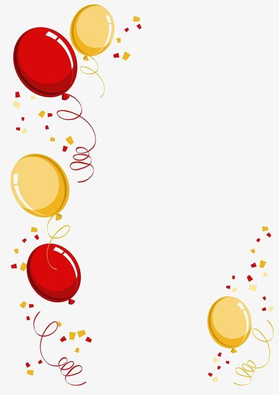 Balloon border creative cartoon. Free new years eve clipart borders