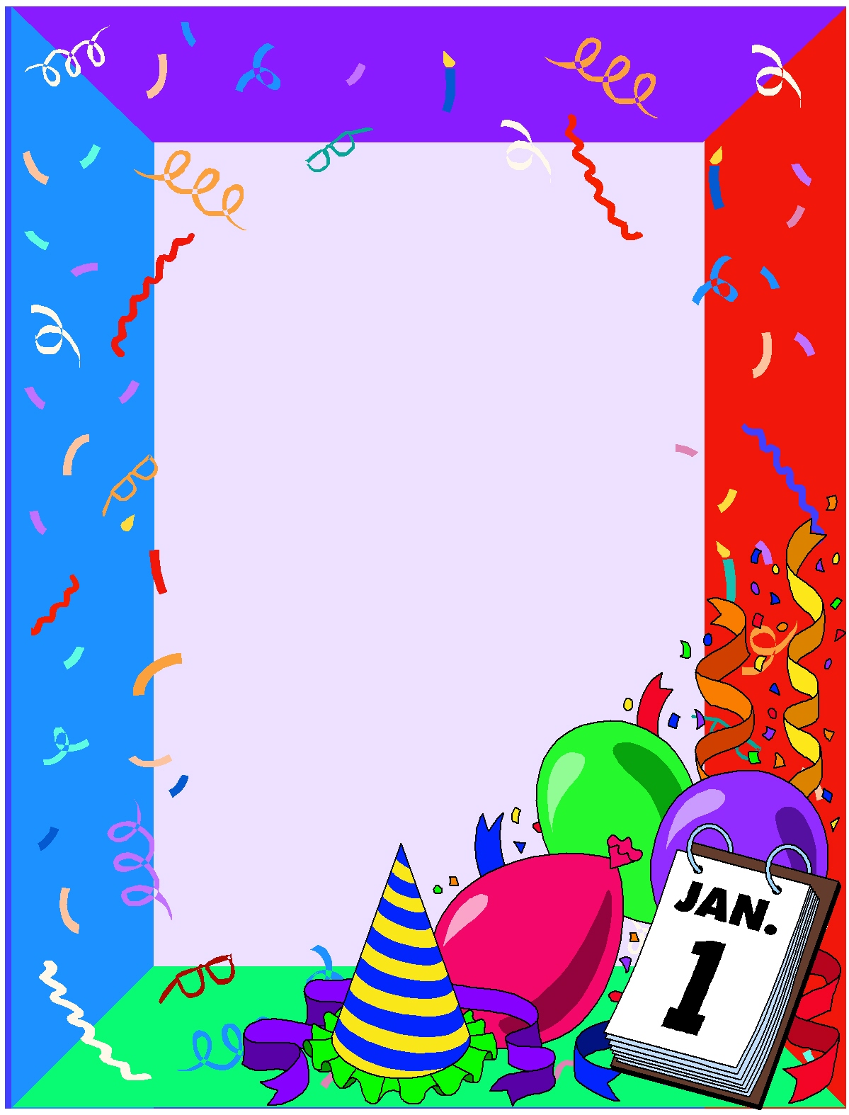 Free new years eve clipart borders. Year download best on