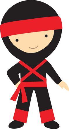 Ninja kid clipart