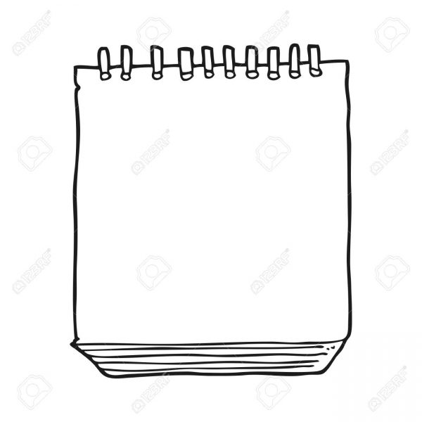 Free notepad clipart jpg download Freehand Drawn Black And White Cartoon Notepad Royalty Free Cliparts ... jpg download