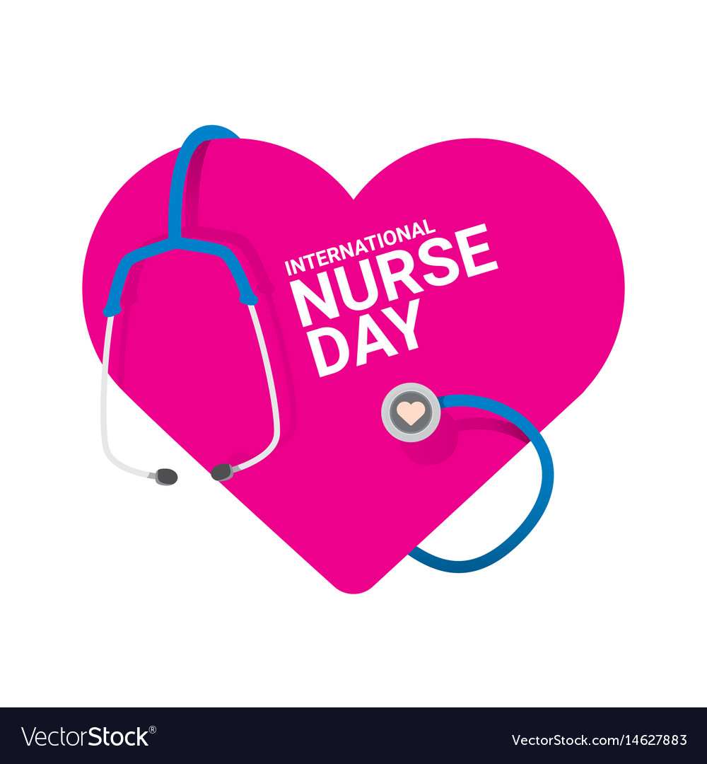 Free nurses day clipart png black and white International nurse day label png black and white