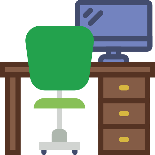 Free office desk clipart. Download computer chairs
