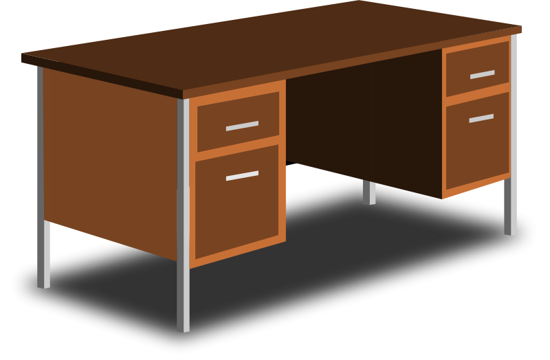 Desk clipart images svg royalty free Free Clipart: An Office Desk | sheikh_tuhin svg royalty free