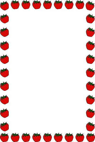 Free online clipart borders jpg royalty free download School Clip Art Borders | Strawberry Border clip art - vector clip ... jpg royalty free download