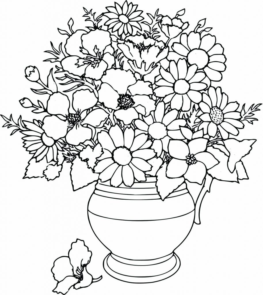 Free online pictures of flowers graphic freeuse library Coloring Pages Flowers - Whataboutmimi.com graphic freeuse library