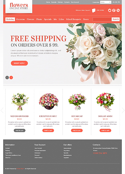Free online pictures of flowers svg freeuse stock 40 Great Premium Flower Shop Templates - Creative Beacon svg freeuse stock