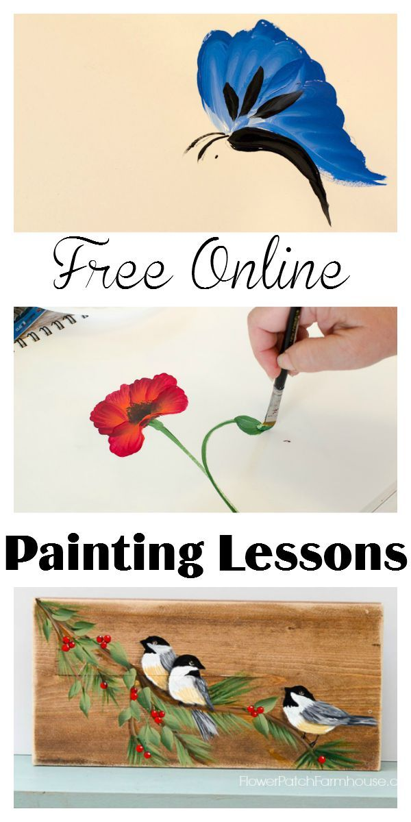 Free online pictures of flowers clip free stock Free Online Painting Lessons | Furniture, Online painting and Birds clip free stock