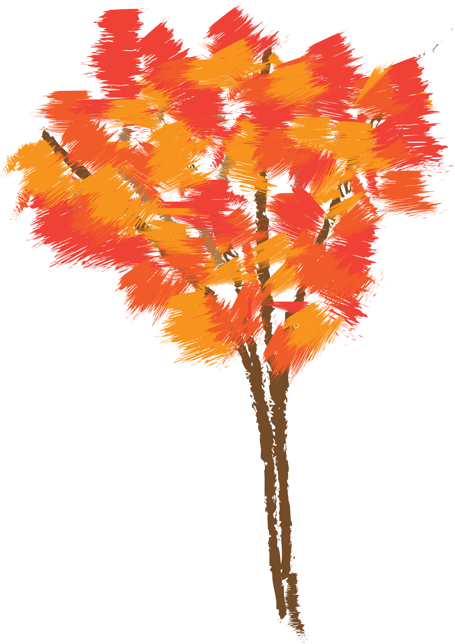 Free orange tree clipart banner free library Clipart - Autumn tree banner free library