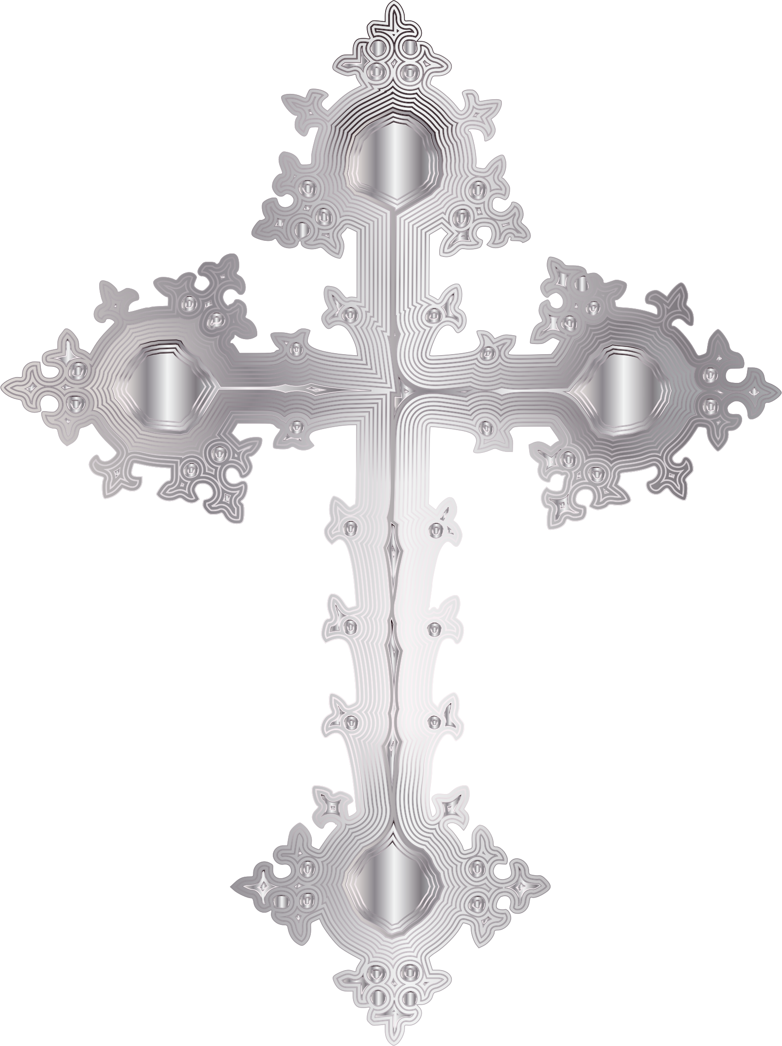 Ornate cross clipart clip art freeuse Platinum Ornate Cross No Background Icons PNG - Free PNG and Icons ... clip art freeuse