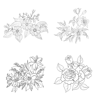Free outline pictures of flowers banner transparent download Free outline pictures of flowers - ClipartFest banner transparent download