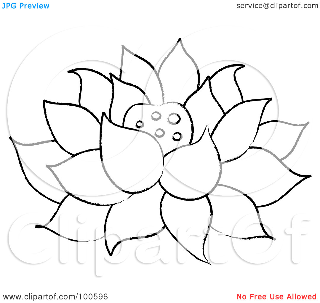 Free outline pictures of flowers clipart download Royalty-Free (RF) Clipart Illustration of a Coloring Page Outline ... clipart download