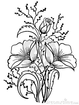 Free outline pictures of flowers picture download Pattern: DOWNLOAD FREE Arrangement of flowers black and white ... picture download