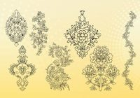 Free outline pictures of flowers svg free stock Flower Outline Free Vector Art - (8593 Free Downloads) svg free stock