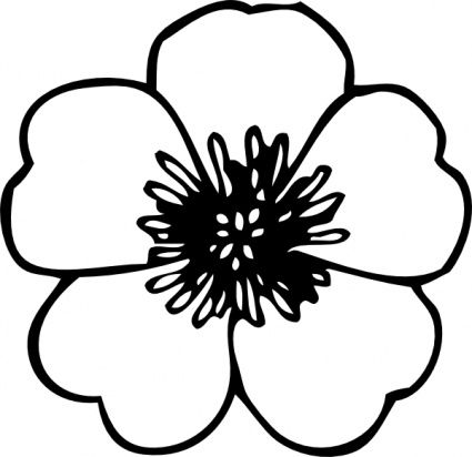 Free outline pictures of flowers clipart library stock Flower Clipart Black And White Outline images | cool stuff ... clipart library stock