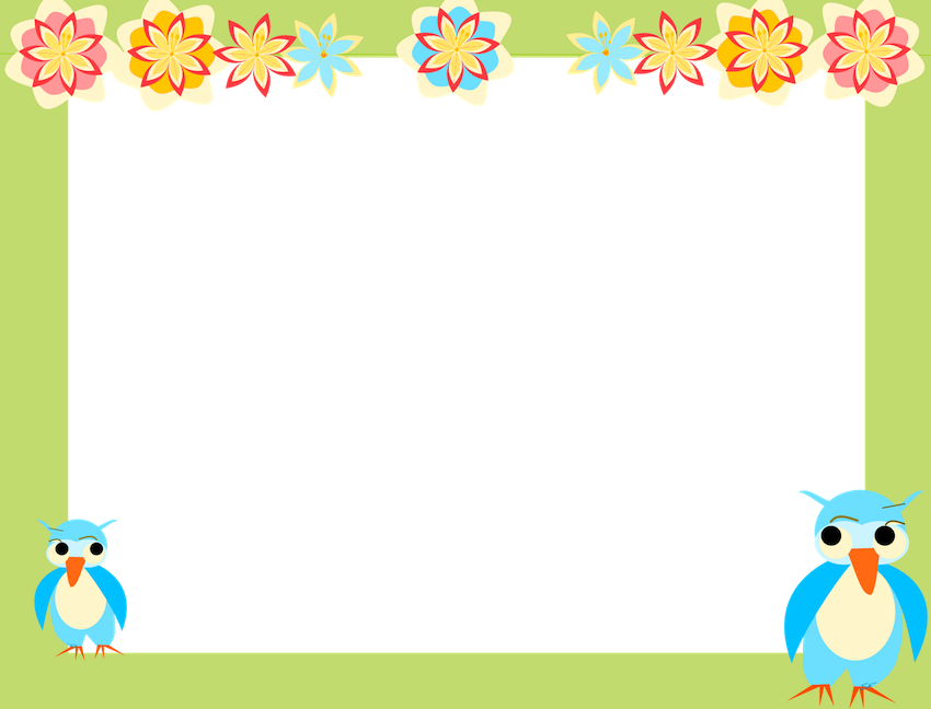 Free owl border clipart picture freeuse borders and frames clip art | owl scrapbooking paper for kids AND ... picture freeuse