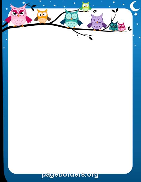Free owl border clipart graphic transparent download Owl Border: Clip Art, Page Border, and Vector Graphics graphic transparent download