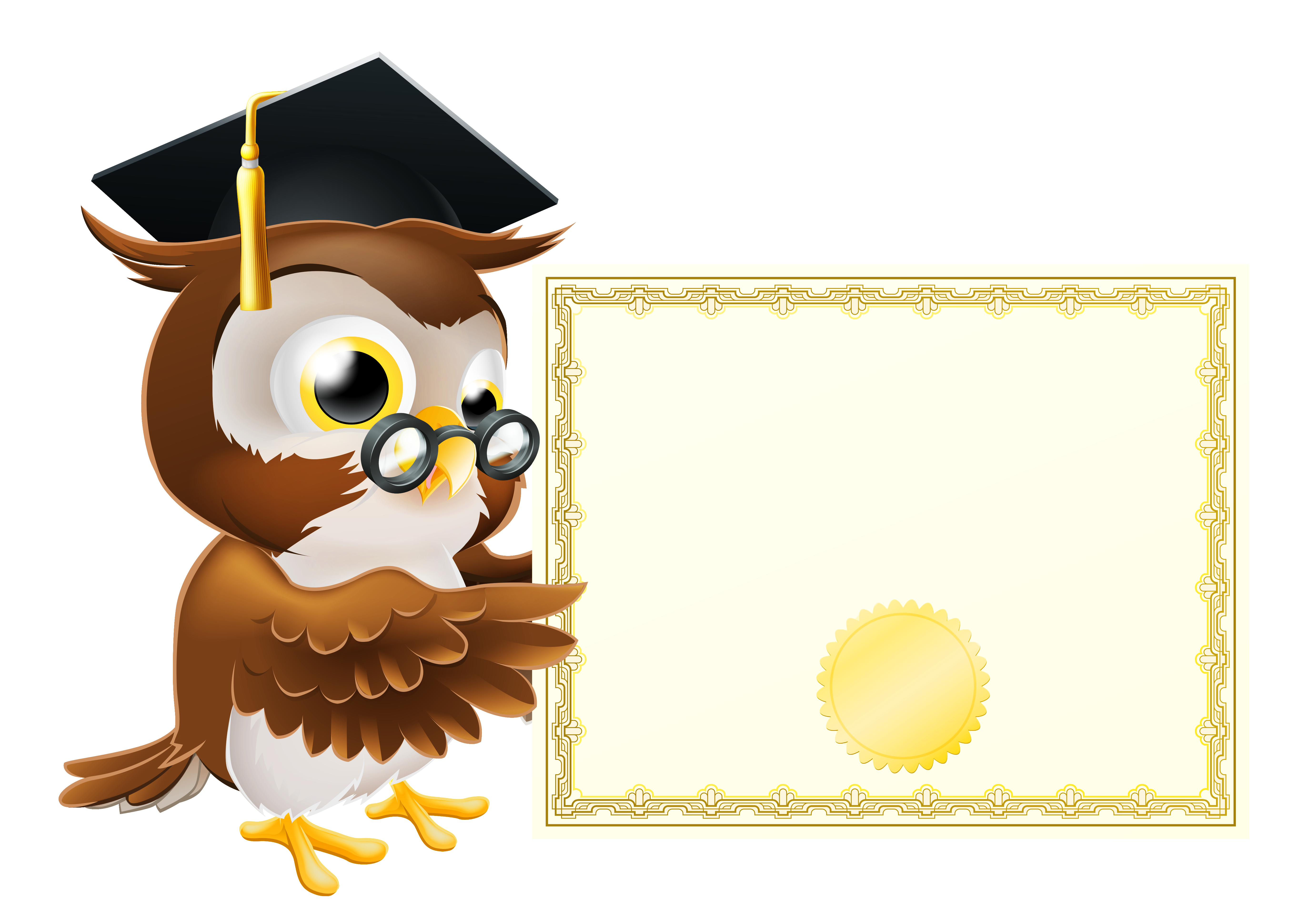 Owl clipart school png royalty free Owl with School Diploma PNG Clipart Picture | Gallery Yopriceville ... png royalty free