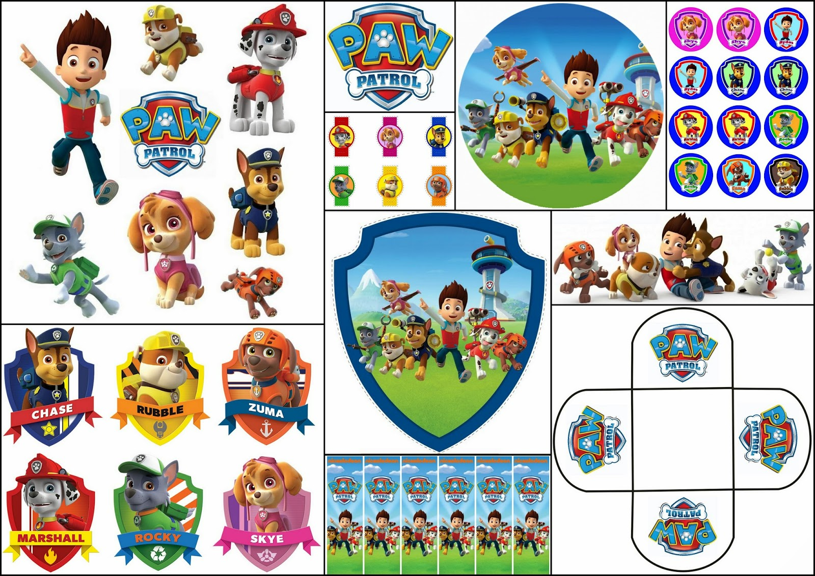 Free paw patrol clipart clip art free download Paw Patrol Free Printable Kit. | Is it for PARTIES? Is it FREE? Is ... clip art free download