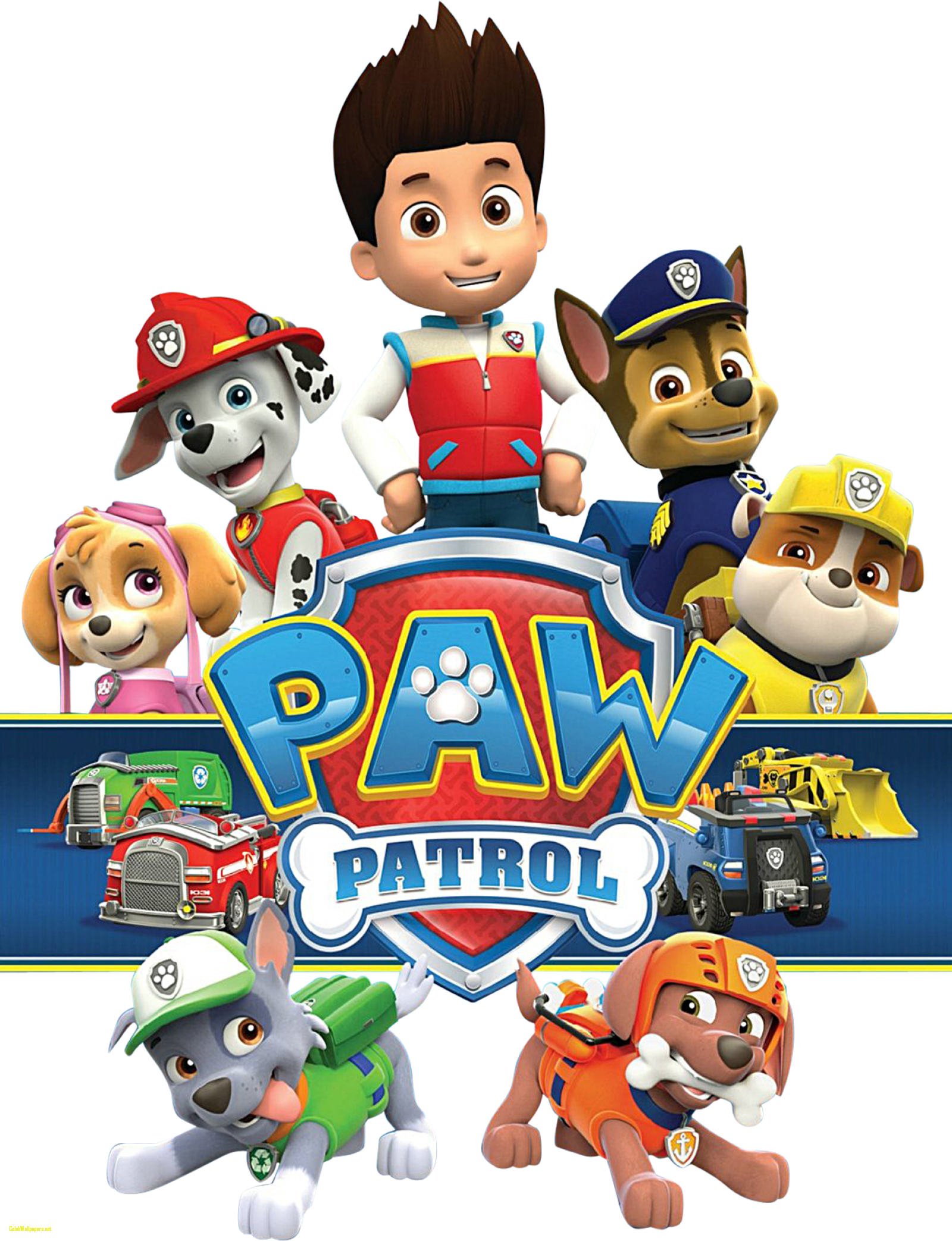 library of free paw patrol clipart black and white stock