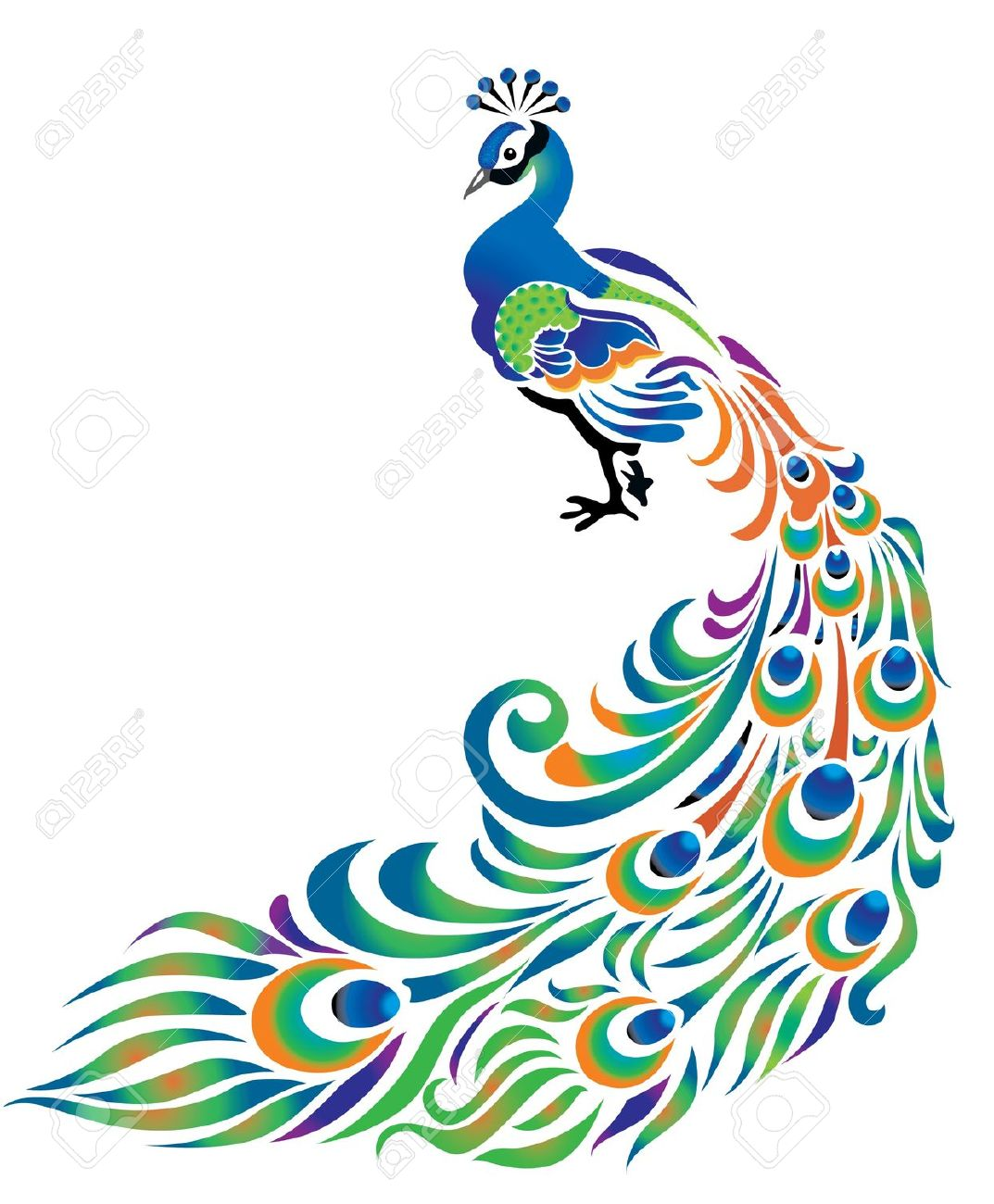 Free peacock clipart vector royalty free library Best Peacock Clipart #12891 - Clipartion.com vector royalty free library