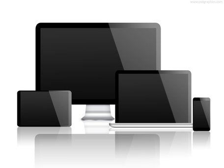 Desktop and smartphone psd. Free phone tablet computer laptop technology clipart