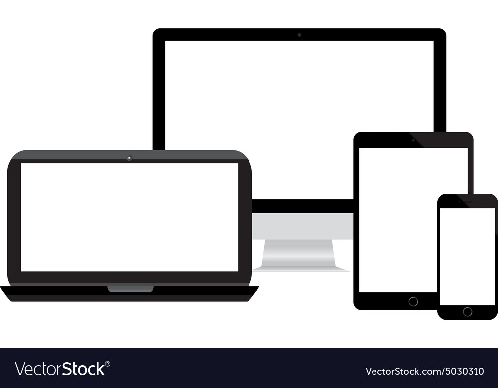 Modern monitor . Free phone tablet computer laptop technology clipart