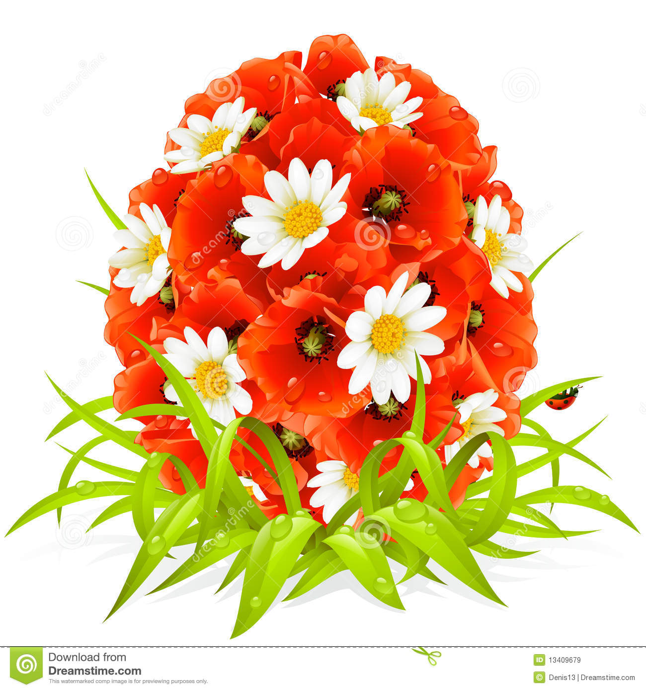 Free photos of spring flowers banner download Vector Spring Flowers In The Shape Of Easter Egg Royalty Free ... banner download