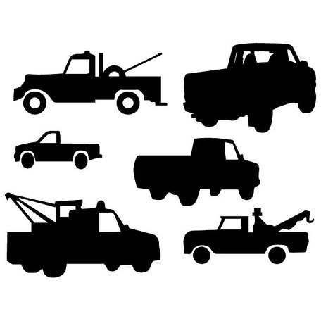 Free pick up truck silloette clipart image clip free stock Free TRUCK VECTOR SILHOUETTES.eps Clipart and Vector Graphics ... clip free stock