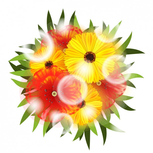 Free picture of bouquet of flowers vector black and white stock Realistic bouquet of flowers Vector | Free Download vector black and white stock