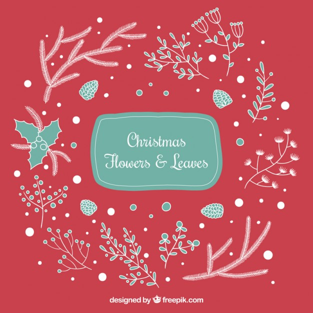 Free pictures of christmas flowers graphic Sketchy christmas flowers and leaves Vector | Free Download graphic