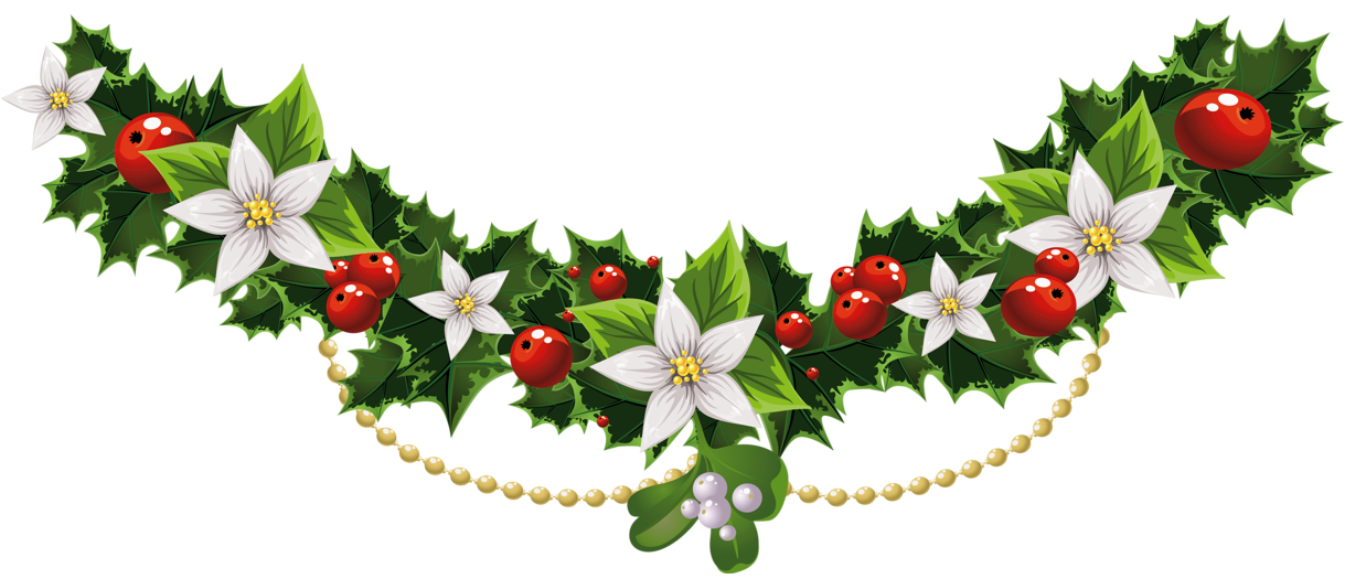 Free pictures of christmas flowers jpg freeuse Pin by Amy ♥ on ꧁Christmas Garland꧁ | Pinterest | Clip art ... jpg freeuse