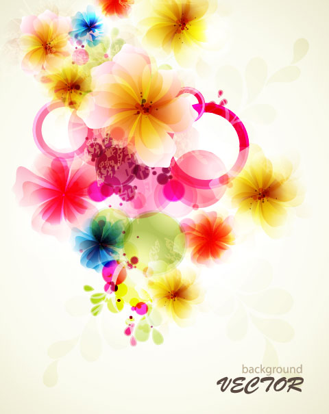 Free pictures of colorful flowers picture transparent stock Shiny Colorful flower background vector 02 - Vector Background ... picture transparent stock