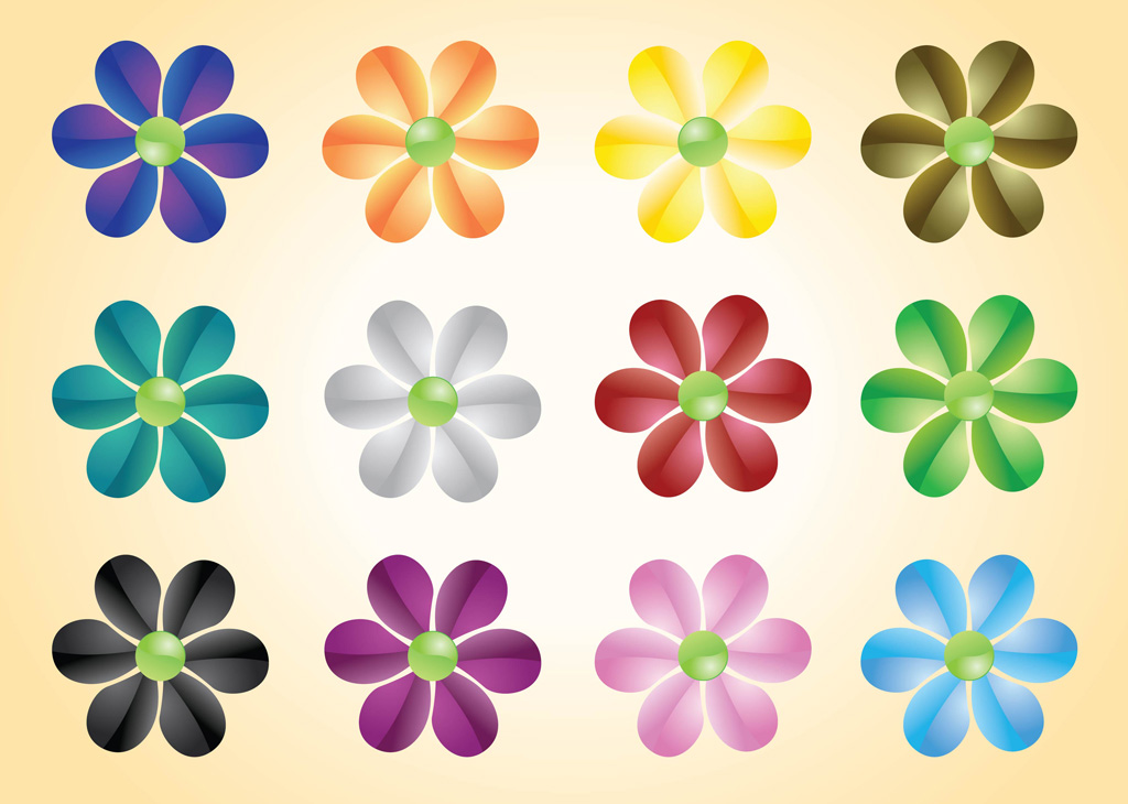 Free pictures of colorful flowers image freeuse download Colorful Flowers Vectors   free vectors   UI Download image freeuse download