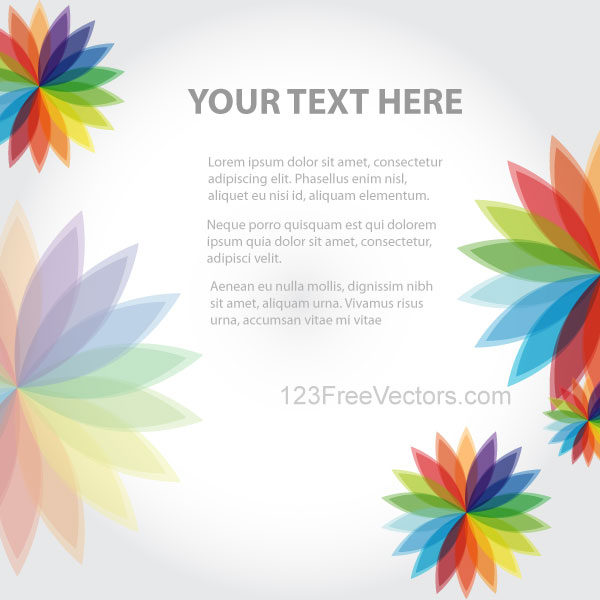 Free pictures of colorful flowers graphic black and white download Abstract Background with Colorful Flowers Vector Art   Download ... graphic black and white download
