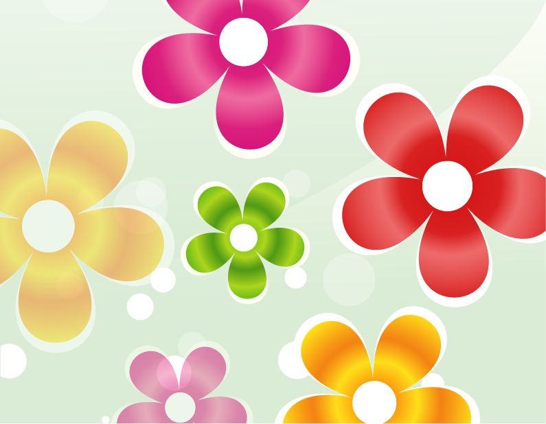 Free pictures of colorful flowers banner royalty free Colorful Flower Clipart - Clipart Kid banner royalty free