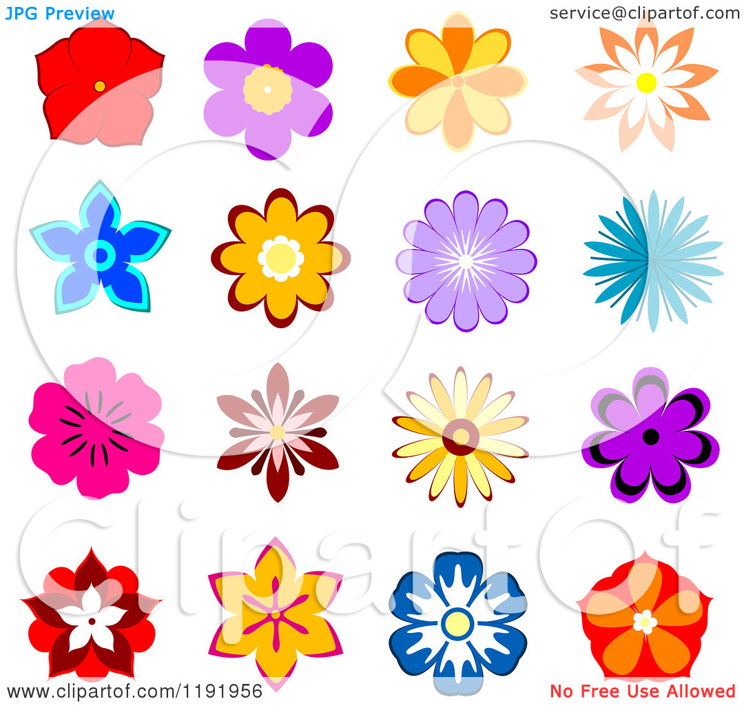 Free pictures of colorful flowers svg transparent stock Colorful flowers clipart - ClipartFest svg transparent stock