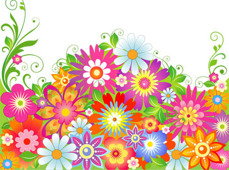 Free pictures of colorful flowers image free library Abstract Colorful Flowers - Free Vector Downloads - Free Vector ... image free library
