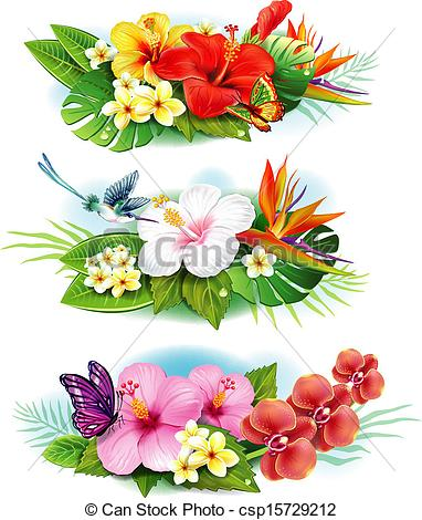 Free pictures of exotic flowers black and white library Tropical flowers art - ClipartFest black and white library