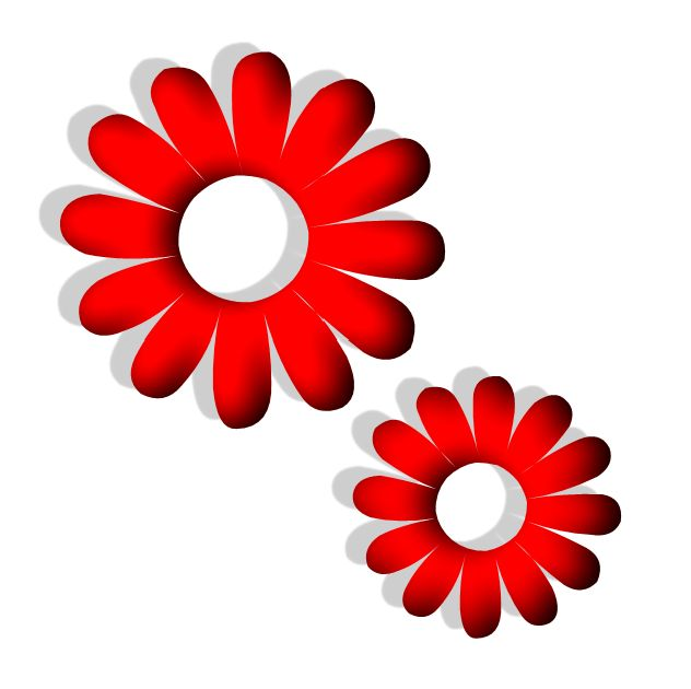 Free pictures of red flowers picture black and white library flowers png | Red Flower image - vector clip art online, royalty ... picture black and white library