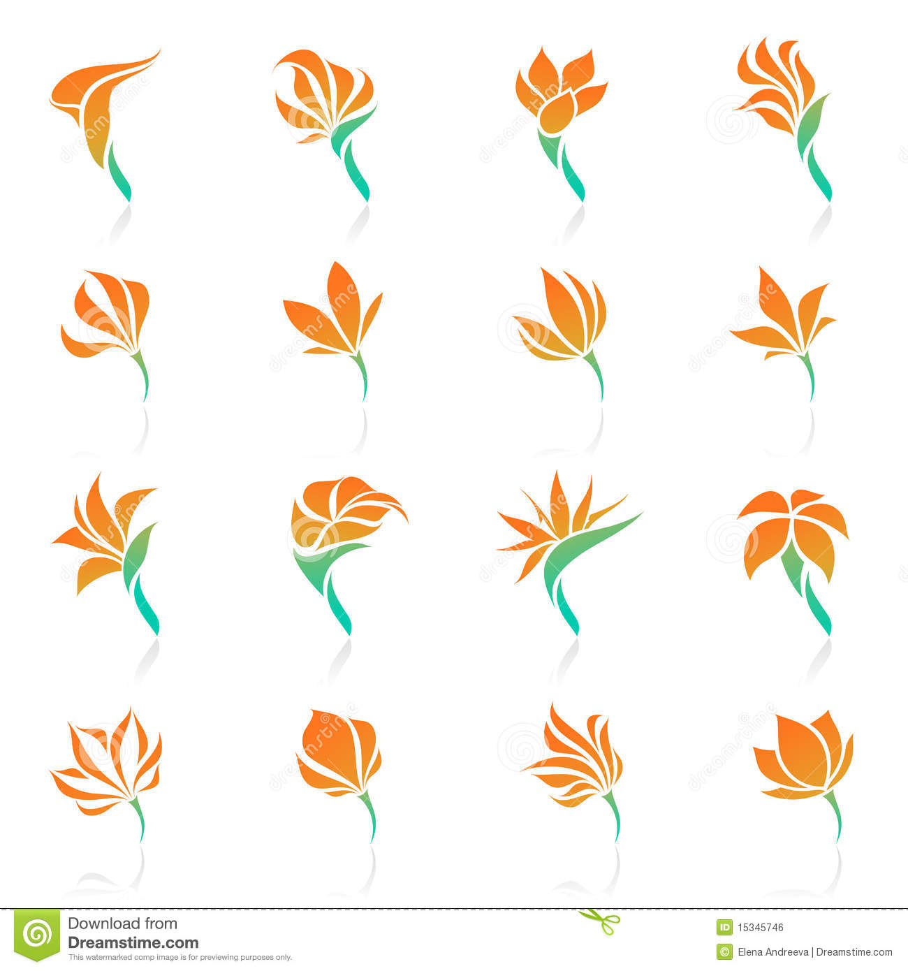 Free pictures of tropical flowers clipart free stock Tropical Flowers. Vector Logo Template Set. Royalty Free Stock ... clipart free stock