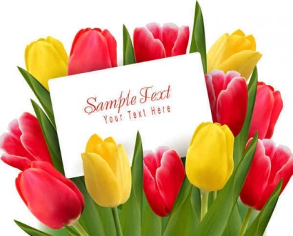 Free pictures of tulips flowers banner library download Beautiful Tulips Flowers Background-vector Background-free Vector ... banner library download