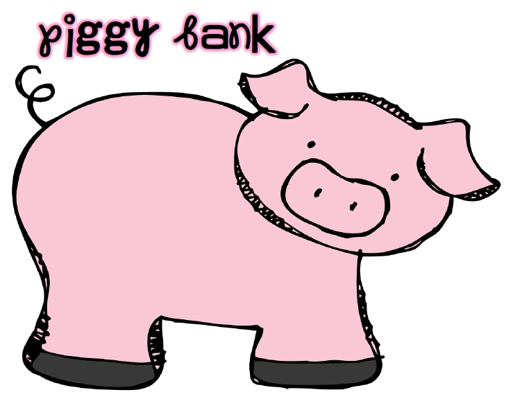 Free piggy bank clipart vector free stock Free Piggy Bank Clipart - The Cliparts vector free stock