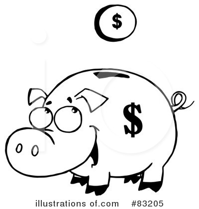 Free piggy bank clipart black and white Cartoon Bank Clipart - Clipart Kid black and white