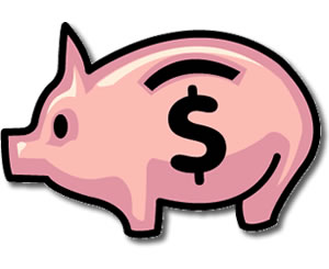 Free piggy bank clipart png free Piggy bank money clipart coloring page cute - ClipartFest png free