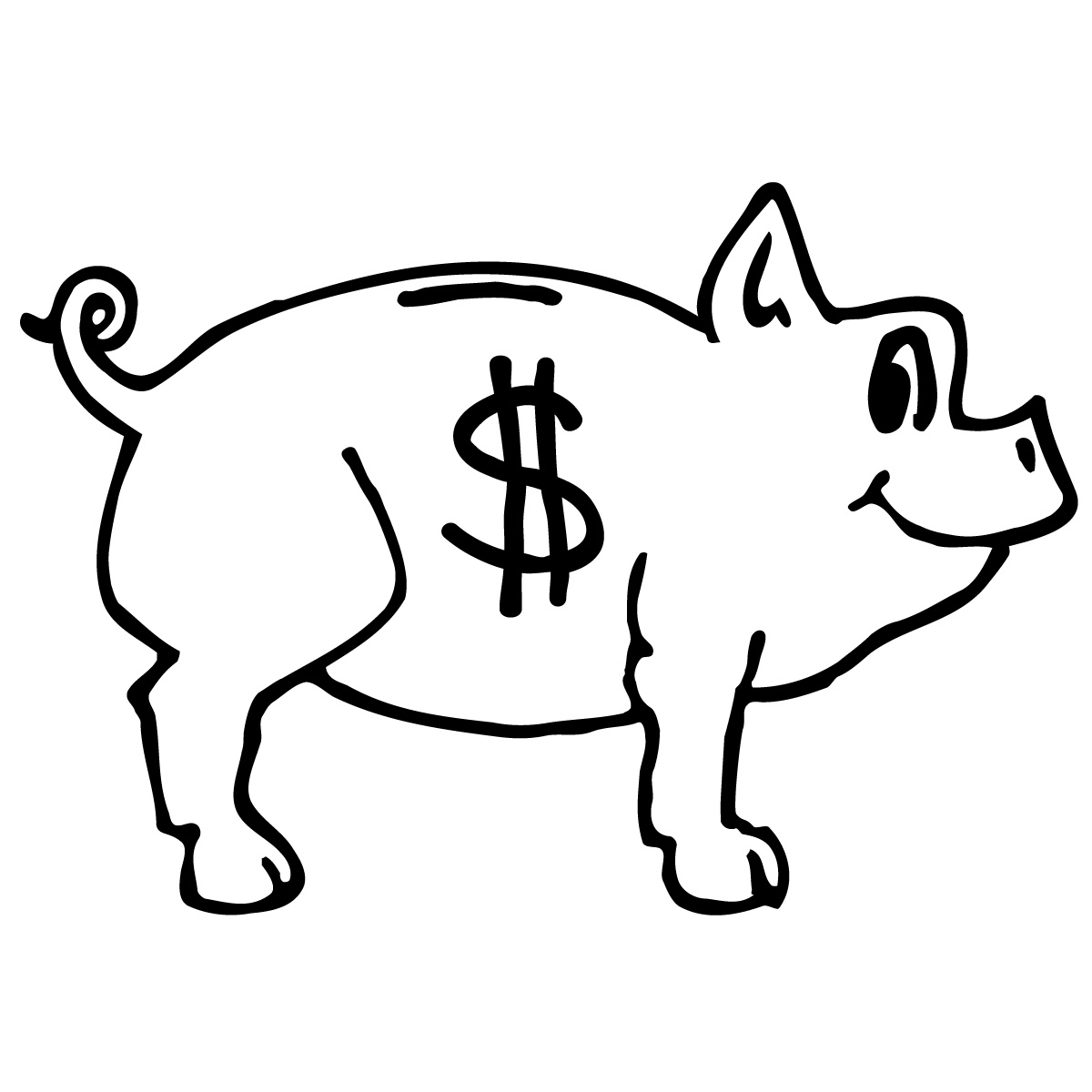 Free piggy bank clipart black and white graphic library Piggy Bank Clipart Black And White | Clipart Panda - Free Clipart ... graphic library